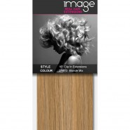 """16"""" Clip in Human Hair Extensions - #27/613 Blonde Mix"""