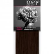 "16"" Clip in Human Hair Extensions - #6 Medium Brown"