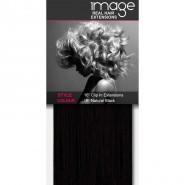 "16"" Clip in Human Hair Extensions - #1B Natural Black"