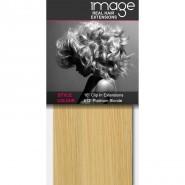 "16"" Clip in Human Hair Extensions - #613 Platinum Blonde"