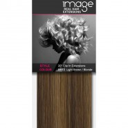 "20"" Clip in Human Hair Extensions - #8/613 Light Brown / Blonde"