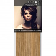 """16"""" DELUXE Clip in Human Hair Extensions - #27613 Blonde Mix"""